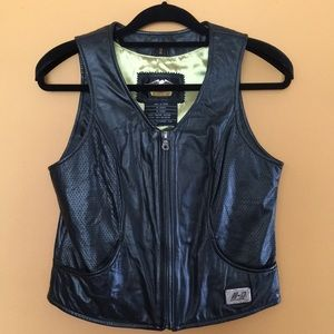 HD Genuine Leather Vest with 100%.Polyester Lining